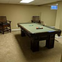 Pool Table, Chairs and Ping Pong Top