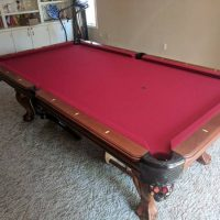 Pool Table With Cover & Accessories