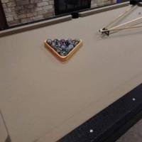 8' Pool Table Custom Black Gator