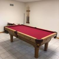 Custom Oak Pool Table 7'
